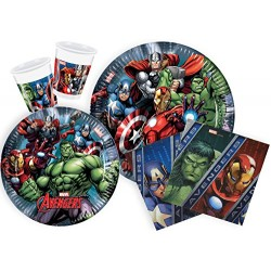 Ciao Y2509 Marvel Avengers Party Tableware for 24 People (112 Pieces