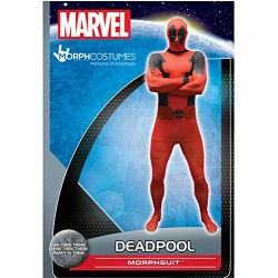 Official Deadpool Basic Morphsuit Fancy Dress Costume