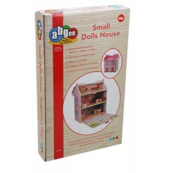 A B Gee TX1092 Small Wooden Dolls House with Furniture