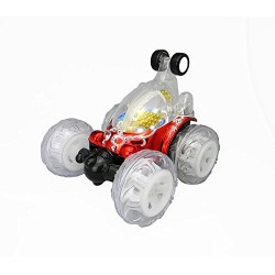Generic Turbo 360 Twister Rc car with Flashing Lights rechargeable blue or red