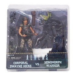 NECA 51396 Aliens Hicks vs Battle Damaged Warrior Action Figure (Pack of 2)