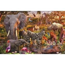 African Animals 3000 Piece Puzzle