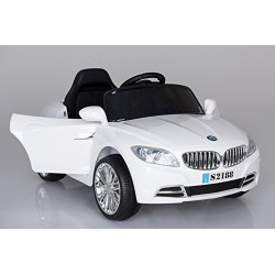 Ricco S2188 Lights and Music White BMW Style Kids Ride on Remote Control Car