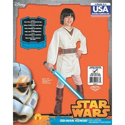 Obi Wan Kenobi Boys Star Wars Jedi Fancy Dress Kids Costume Outfit