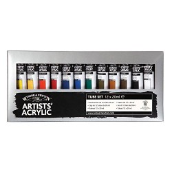 Winsor & Newton Artists' Acrylic Paint Starter (12x20ml)