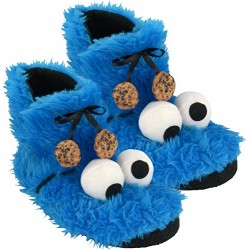 Sesame Street Cookie Monster plush slippers, booties 0122032,size 41/42