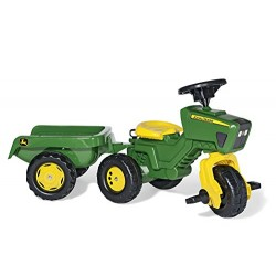 Rolly Toys 52769 Franz Cutter John Deere Pedal Tractor with Sound And Trailer
