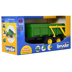 Bruder 02210 Tipping Trailer (Green)
