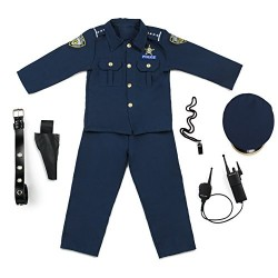 Dress Up America Deluxe Police Dress Up Costume Set