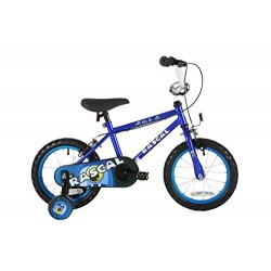 Sonic Rascal Kids' Kids Bike Blue 1 speed colour cordinated spoked wheels fully enclosed chainguard and easy reach brakes
