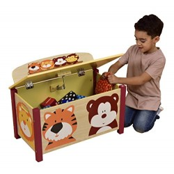 Liberty House Toys Jungle Toy Box, Wood, Multi