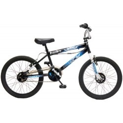 Flite Punisher Kids' Freestyle Bike Black/Multicolour, 11 inch steel frame, 1 speed 360 degrees rotor
