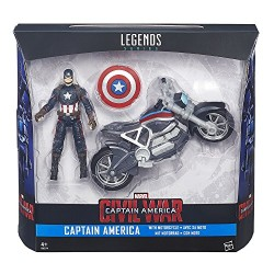 Marvel Legends Series Captain America Figure and Motorcycle, Multi