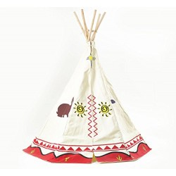 Children's Wigwam Teepee Play Tent, Traditional Wild West Cowboys and Indians Tipi by Garden Games Ltd