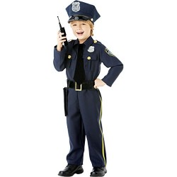 Amscan International Children Police Officer Costume Age 4