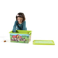 Playmobil 064663 Furniture and Decoration Storage Box + Compartment Box, Farm