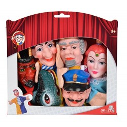Simba 104586784 Punch and Judy Hand Puppet Set (6