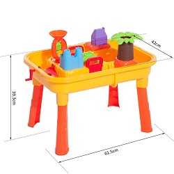 HOMCOM 32pcs Sand Table Chair Set Beach Outdoor Kids Children Sand and Water Table Play Kit Beach Toy Outdoor Activity
