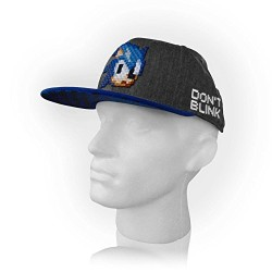 Sonic the Hedgehog Sonic Pixelated Don't Blink Snapback Cap