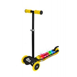 OZBOZZ SV13941 Light Burst Scooter, Black and Yellow