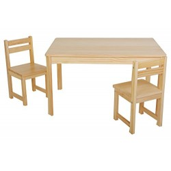 Tikk Tokk TBS11N Natural Little Boss Rectangular Table and Chairs