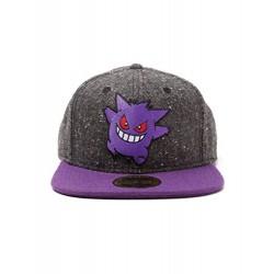 Meroncourt Unisex Pokemon Gengar Character Snapback Baseball Cap, One Size, Dark Grey/Purple Baseball Cap, Grey, One Size
