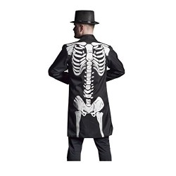 Folat 63376 Skeleton Halloween Coat for Men (Medium/Large)