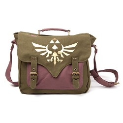 Legend of Zelda Triforce Logo Satchel Style Messenger Bag (Gold)