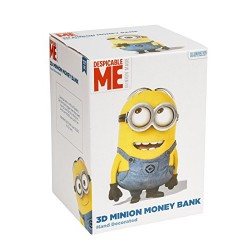 Joy Toy 72025 Minions 3D Ceramics Money Box in Gift Wrap