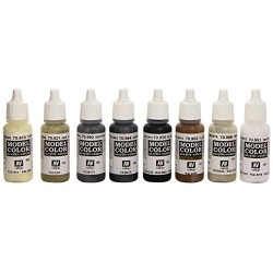 Vallejo Model Color Black and White Acrylic Paint Set