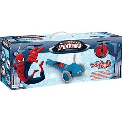 Mondo Spiderman Twist and Roll Scooter with Extra Grip
