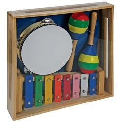 A B Gee LXS0033 Wooden Musical Instrument Set