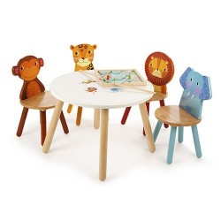 Tidlo wood Lion Chair, 26 cm