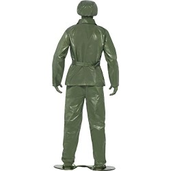 Smiffy's Adult men's Toy Soldier Costume, Top, trousers, Belt, Hat and Foot
