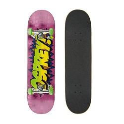 Osprey Comic Complete Double Kick Trick Skateboard, 8 Inch