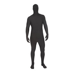 Adults MSUIT Black Second Skin Halloween Fancy Dress Costume