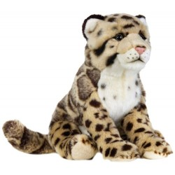 National Geographics LEOPARD NEBULOUS Stuffed Animals Plush Toy (Medium, Natural)