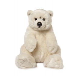 WWF cuddly Polar Bear plush stuffed animal soft toy 22cm sitting