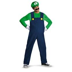 Super Mario–Luigi Deluxe Adult Costume–Size 42
