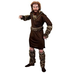 I Love Fancy Dress ILFD4580L Adult Mens Viking Medieval Fancy Dress Costume, Brown, Large
