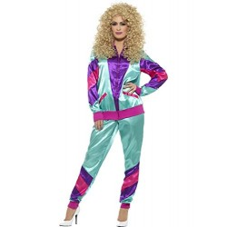 Smiffy's 43130L 80's Height of Fashion Shell Suit Female Costume (Large)