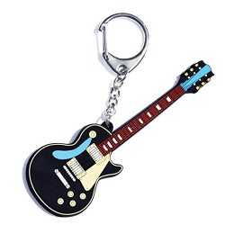 My Music Gifts Vintage Electric Guitar PVC Key Ring