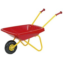 Metal Framed Wheelbarrow Red & Yellow