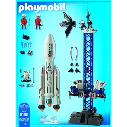 Playmobil 6195 City Action Space Rocket with Launch Site and Flashing Lights & Sounds