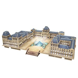Cubic Fun l517h – 3d Puzzle Museum of the Louvre with LED – Paris – France