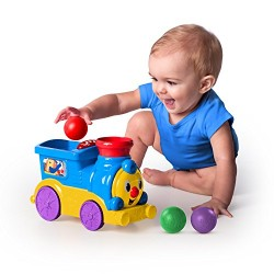 Bright Starts roll and pop train Toy