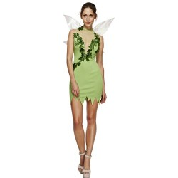 Fever Adult Women's Magical Fairy Costume, Dress and Wings, Once Upon a Time, Size XS, 43480