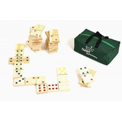 Giant Wooden Dominoes in a Storage Bag from Garden Games