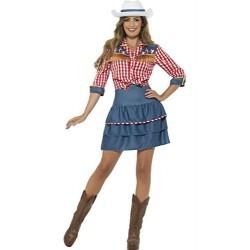 Smiffy's 24648M Rodeo Doll Costume (Medium)