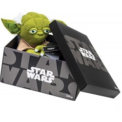 Joy Toy 1601758 Yoda Black Line Plush Toy in Gift Box, 25 cm